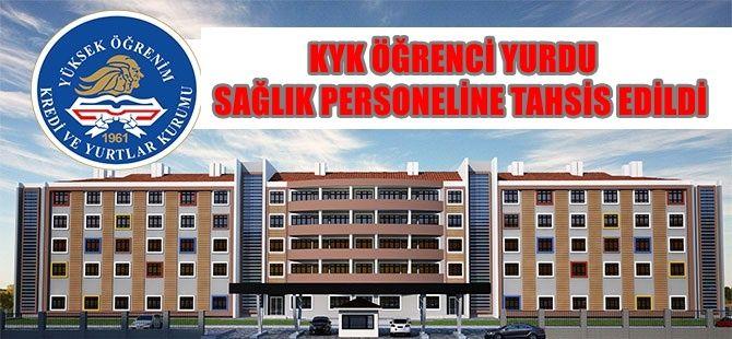 Öğrenci Yurdu Sağlık çalışanlarına tahsis edildi