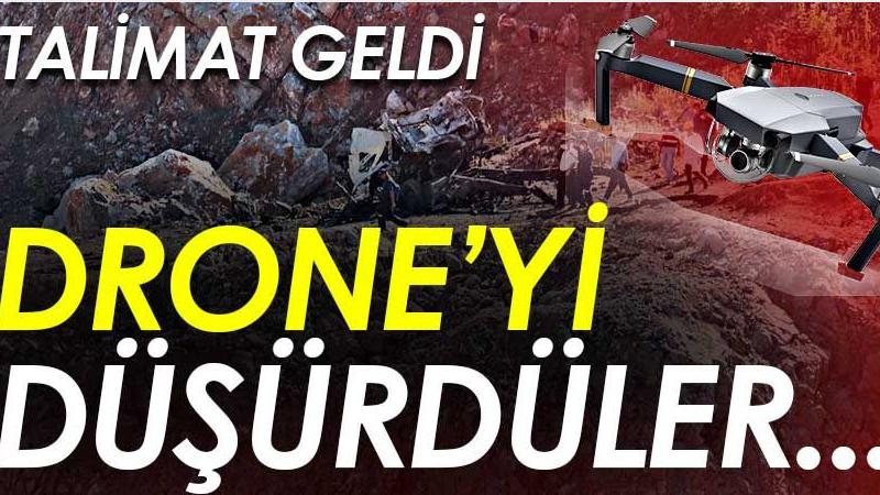 Patlama bölgesinde drone krizi! Talimat verildi ve vuruldu