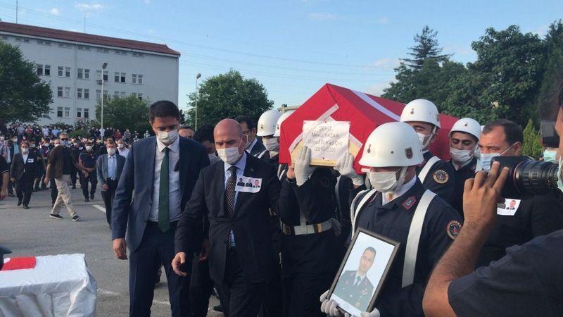 Patlamada Şehit olan askerler için tören düzenlendi