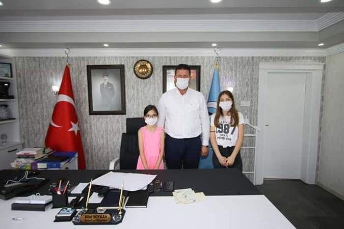 Başkan Soykan'a projelerini sundular