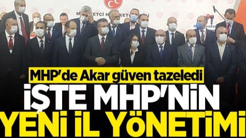 MHP Sakarya'da Akar güven tazeledi! İşte yeni il yönetimdeki 4 Akyazılı