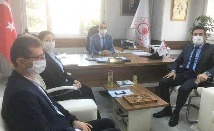 Başkan yardımcısı Gündüz İl Ticaret müdürü Atmaca'yı ziyaret etti