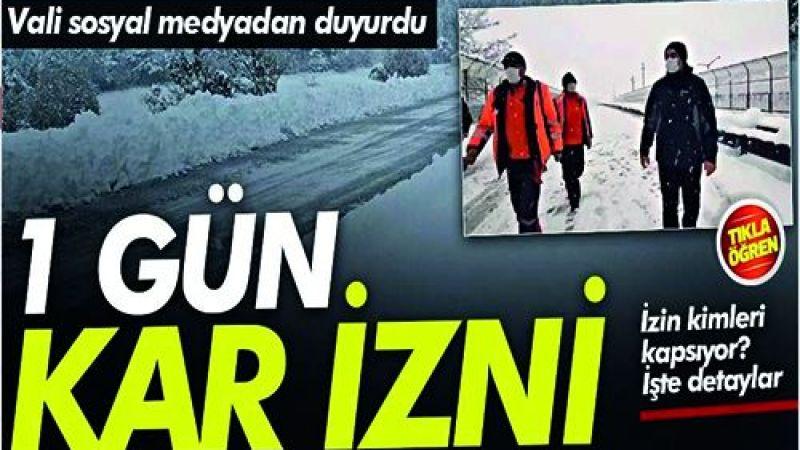 Son dakika Ana Okullarına kar tatili