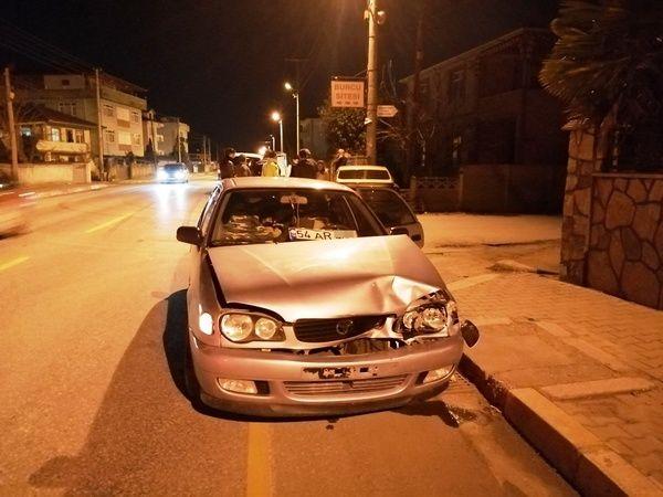 Batakköy yolunda aynı anda 2 ayrı kaza