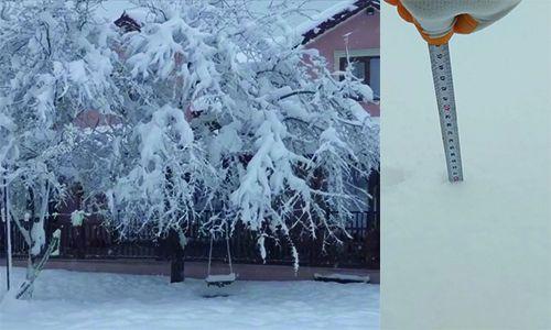 Kuzuluk'ta kar kalınlığı 30 santime ulaştı