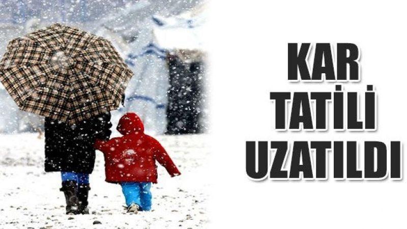 Okullarda kar tatili iki gün daha uzadı!