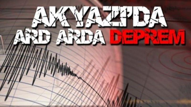 Akyazı'da Artçı Depremler devam ediyor