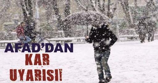 AFAD'tan Son dakika uyarısı! Yoğun kar yağışına dikkat...