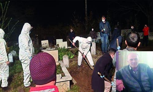 Koronadan ölen 73 yaşındaki Emekli Veteriner gece toprağa verildi