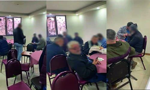 Kahvede oyun oynayan 17 kişiye 49 bin lira ceza