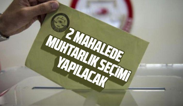 Bu Pazar Akyazı'da 2 Mahallede seçim var