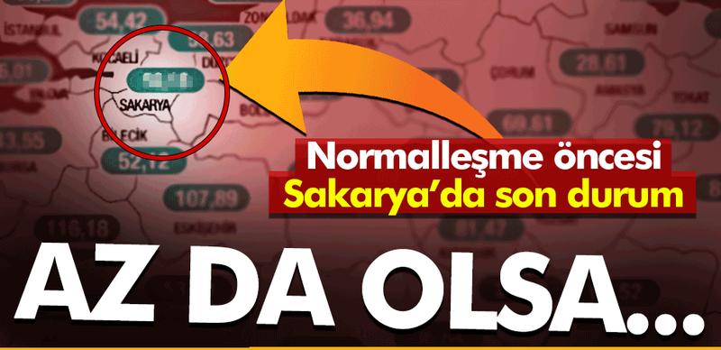 Sakarya'da vaka sayıları az da olsa azaldı! İşte yeni harita