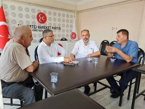 Muhtar Daloğlu  MHP'yi ziyaret etti