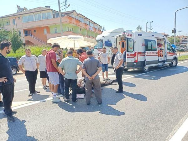 Kamyonla çarpışan Pat Pat sürücüsü Hastaneye kaldırıldı