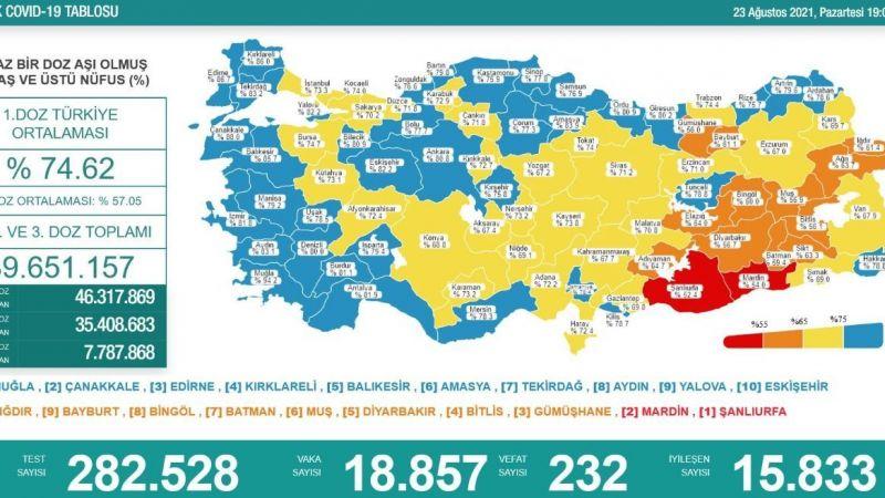 Günlük vaka tablosu açıklandı... 232 kişi hayatını kaybetti