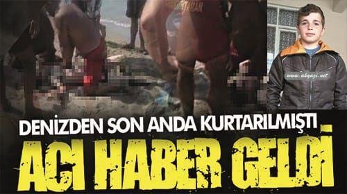 Karasu'da boğulma tehlikesi geçirmişti 17 yaşındaki gençten acı haber geldi!