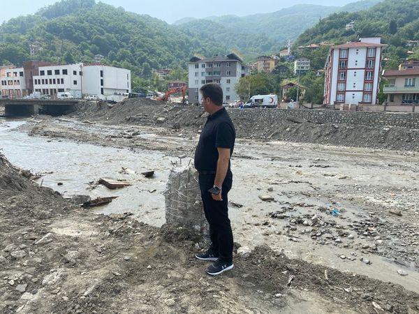 Başkan Soykan sel bölgesi Bozkurt'ta
