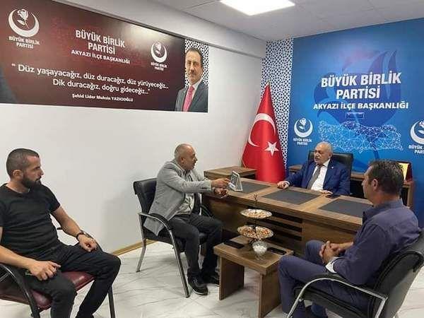 Akyazı BBP Genel başkan yardımcısını ağırladı