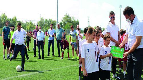 Başkan Soykan'dan Spora katkı sunanlara plaket