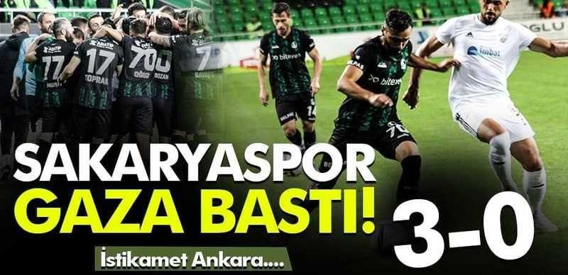 Sakaryaspor Somaspor'u rahat geçti: 3-0