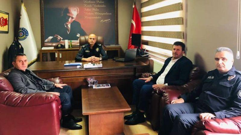 Başkan Soykan'dan yeni emniyet müdürüne hoş geldin ziyareti