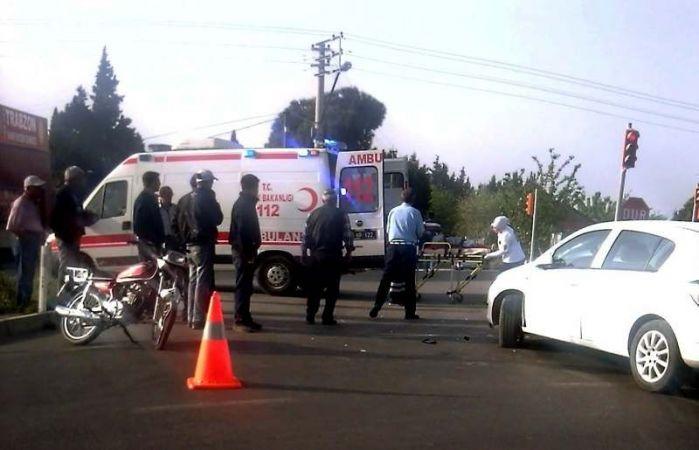 Saruhanlı'da trafik kazası: 1 ağır yaralı