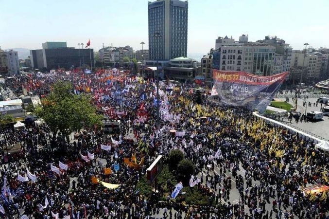 Taksim'de 1 Mayıs coşkusu
