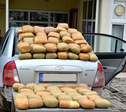 Patnos'ta105 kilogram esrar ele geçirildi