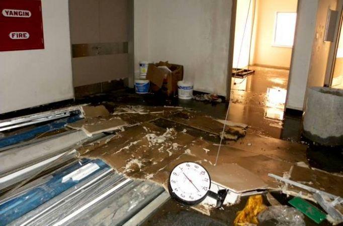Araştırma hastanesini açılışı yapılmadan su bastı