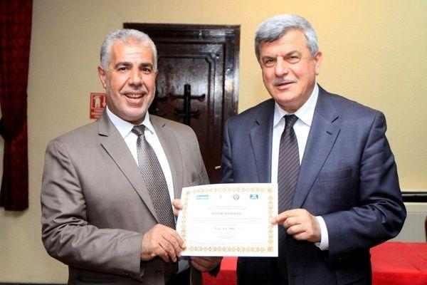 Filistin heyeti sertifikalarını aldı