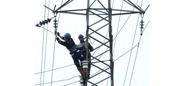 30 metre yükseklikte zorlu çalışma