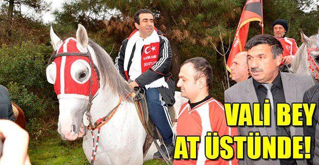 Vali Güzeloğlu at üstünde