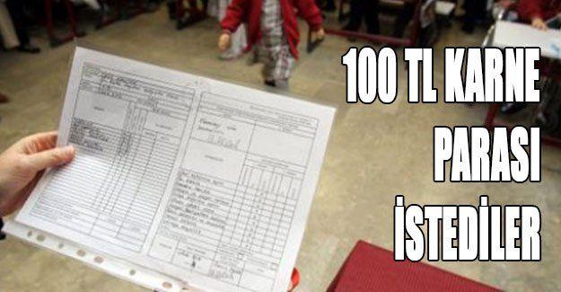100 TL karne parası istediler