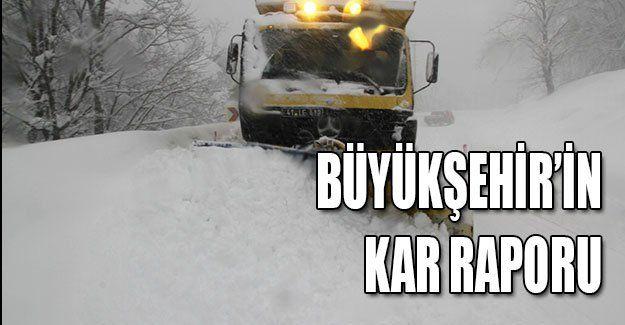 Büyükşehir'in kar raporu