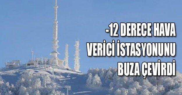 -12, verici istasyonunu buza çevirdi