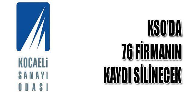 KSO'da 76 firmanın kaydı silinecek