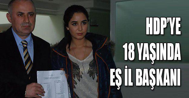 HDP'ye 18 yaşında Eş İl Başkanı
