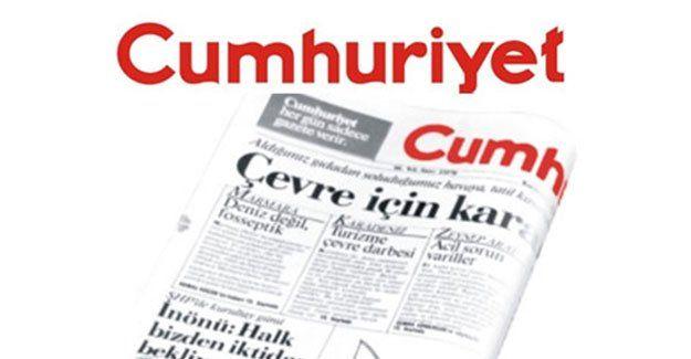 Cumhuriyet gazetesine soruşturma!