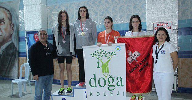 Liseler yüzmede Doğa Koleji çifte şampiyon