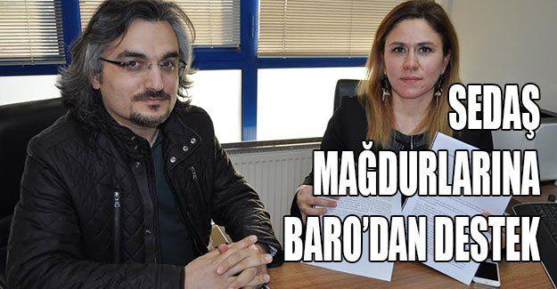 Sedaş mağdurlarına Baro'dan destek