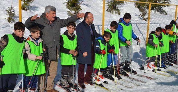 Başkanlar kayak eğitiminde