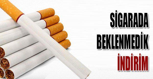 Sigarada beklenmedik indirim
