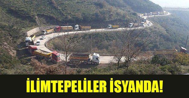 İlimtepe yolunda yüzlerce kamyon