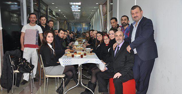 Belediye İşhanı'nın yeni yönetiminden kahvaltı