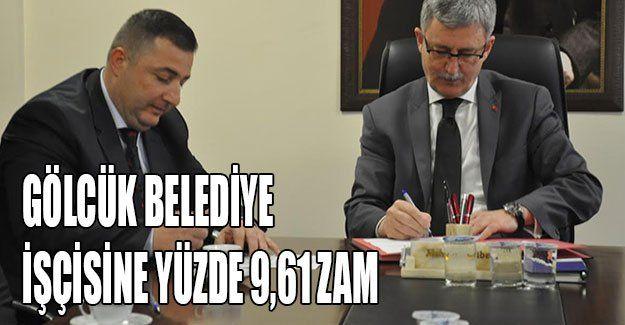 Gölcük Belediye işçisine yüzde 9,61 zam