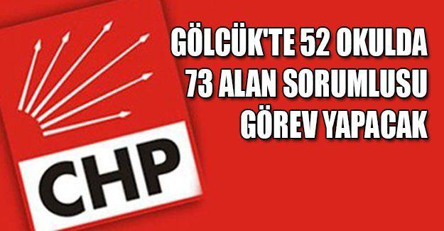 CHP Gölcük'te 52 okulda 73 alan sorumlusu