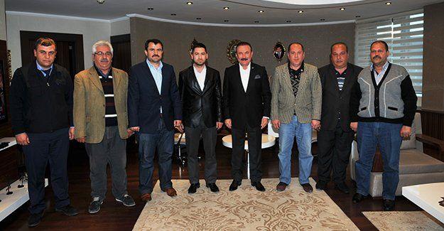 Şampiyon Kireçocaklarıspor yönetimi, Başkan Nevzat Doğan'ı ziyaret etti