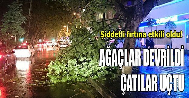 Şiddetli fırtına etkili oldu!
