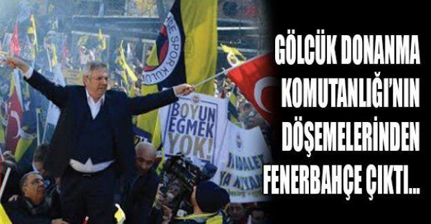 Gölcük Donanma Komutanlığı'nın Döşemelerinden Fenerbahçe çıktı...