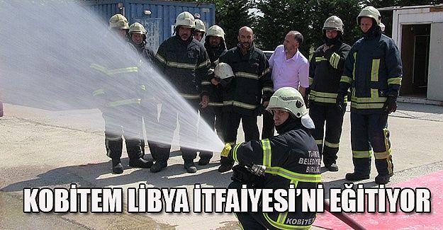 Libya itfaiyesi KOBİTEM'de eğitimde